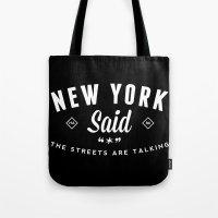 New York Said Tote Bag