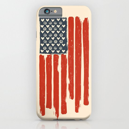 Red and Blue and White iPhone & iPod Case