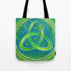 Green Celtic Snake Tote Bag