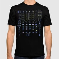 DJ Mixer Mens Fitted Tee Black SMALL