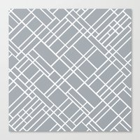 Map Outline Grey 45  Canvas Print