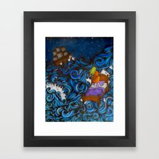 Dreaming By the Sea Framed Art Print