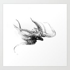 Octopus Rubescens Art Print