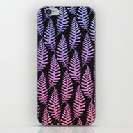iPhone & iPod Skin featuring Multi Color Leaves (Blac… by Heart Of Hearts Desi…