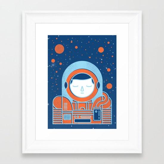 Orange Space Framed Art Print