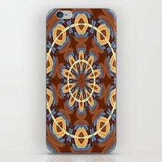 Blue Wood Kaleido Pattern iPhone & iPod Skin