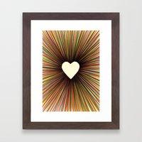 Heart Radiant Color Framed Art Print