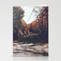 Kenisis lake fall road Stationery Cards