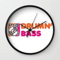 Drumn' Bass  Wall Clock