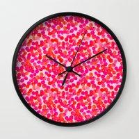 Pink Spots Wall Clock