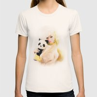 WILD FOR LOVE  Womens Fitted Tee Natural SMALL