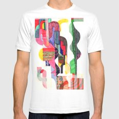 Collage I Mens Fitted Tee SMALL White