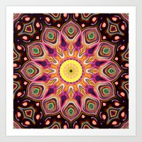 Colorful Digital Flower Art Print
