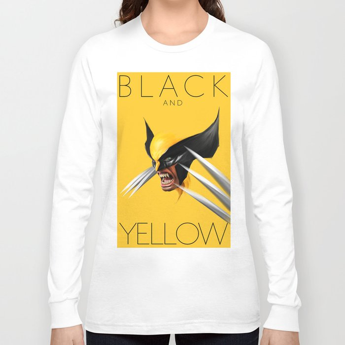 Black and yellow long sleeve t shirt by john aslarona for Womens yellow long sleeve shirt