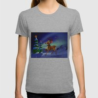 Rudolph Womens Fitted Tee Athletic Grey SMALL
