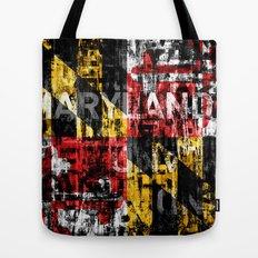 Maryland Flag Print Tote Bag