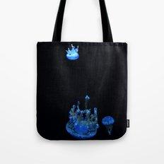 Tiny Upsidedown Blue Tote Bag