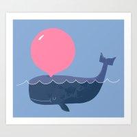 Blubber Gum Art Print