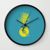 Vinyl Tree Wall Clock
