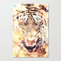 Feline Fire Canvas Print
