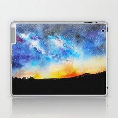 When night is falling    watercolor Laptop & iPad Skin