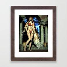 Blue Moon Goddess Framed Art Print