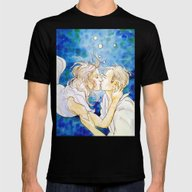 Underwater Kiss Mens Fitted Tee Black SMALL