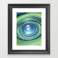 Moon Lights Framed Art Print