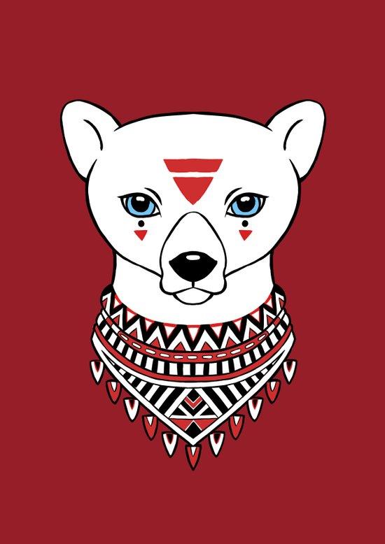 Tribal Bear Art Print