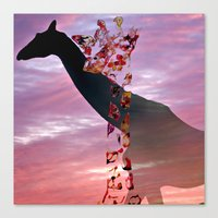 Goodnight Giraffes Canvas Print