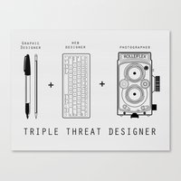 Triple Threat Designer Canvas Print