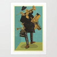 ABSTRACT JAZZ Art Print