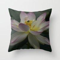 Lotus flower 3 Throw Pillow