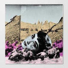 Audrey Hepburn à la montagne Canvas Print