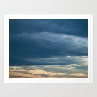 Deep Cerulean Sky Art Print