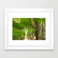 Green Feathers Framed Art Print