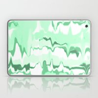 Marbled in emerald Laptop & iPad Skin