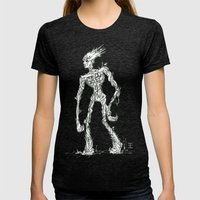 Wandering Tree Womens Fitted Tee Tri-Black SMALL