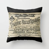 Plaques Ultra Rapides Throw Pillow
