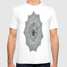 spider Mens Fitted Tee White SMALL