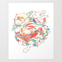 Cosmic Koinonia. Art Print