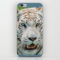 iPhone & iPod Skin featuring THE BEAUTY OF WHITE TIGE… by Catspaws