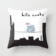 Life Sucks Throw Pillow