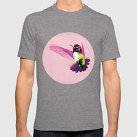 Paloma. Mens Fitted Tee Tri-Grey SMALL