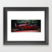 Lamborghini Test Drive Framed Art Print