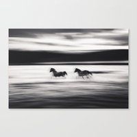 Horses In Abstract No.2 Canvas Print