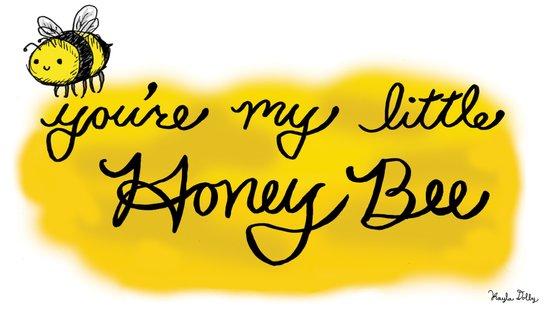 My Little Honey Bee Art Print