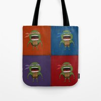 Screaming Turtles Tote Bag