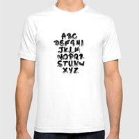 Pencil Me In ABC Mens Fitted Tee White SMALL