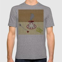 cup of tea Mens Fitted Tee Athletic Grey SMALL